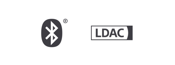 Logotipos de Bluetooth® y LDAC