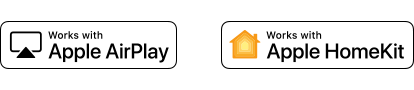 Logotipos de Apple AirPlay y Apple HomeKit